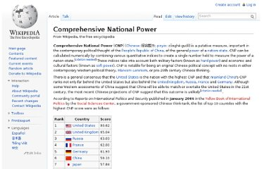 http://en.wikipedia.org/wiki/Comprehensive_National_Power