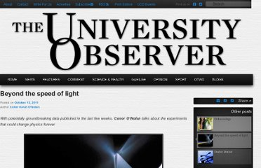 http://www.universityobserver.ie/2011/10/13/beyond-the-speed-of-light/