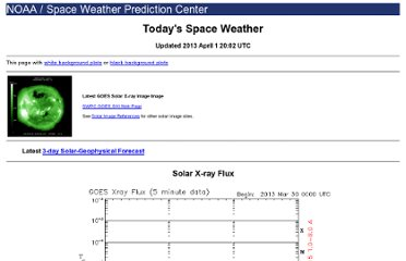 http://www.swpc.noaa.gov/today.html#satenv