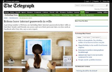 http://www.telegraph.co.uk/technology/news/8824216/Britons-leave-internet-passwords-in-wills.html