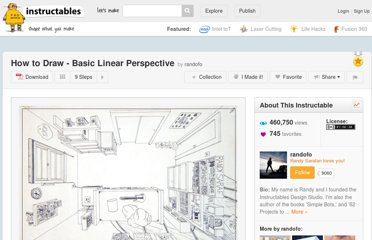 http://www.instructables.com/id/How-to-Draw---Basic-Linear-Perspective/