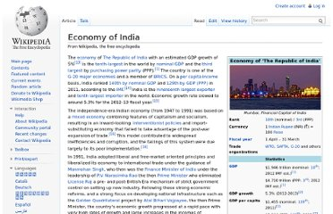 http://en.wikipedia.org/wiki/Economy_of_India