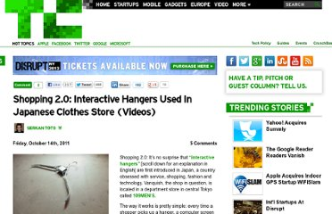 http://techcrunch.com/2011/10/14/shopping-2-0-interactive-hangers-used-in-japanese-clothes-store-videos/