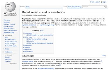http://en.wikipedia.org/wiki/Rapid_serial_visual_presentation