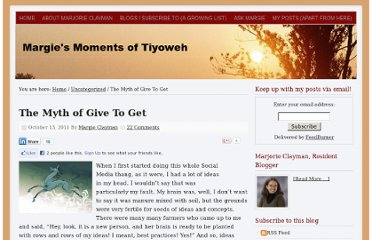http://www.margieclayman.com/the-myth-of-give-to-get