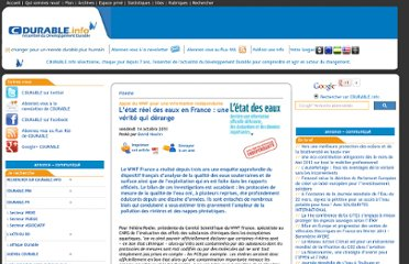 http://cdurable.info/Etat-des-eaux-en-France-Rapport-Evaluations-donnees.html