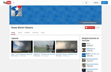 http://www.youtube.com/user/TexasStormChasers