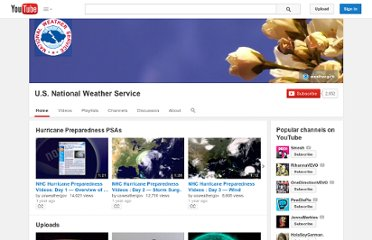 http://www.youtube.com/user/usweathergov