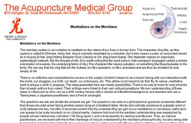 http://www.acupuncturemedical.org/meditations.html