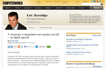http://blogs.computerworld.com/19074/five_reasons_companies_are_going_social_at_light_speed