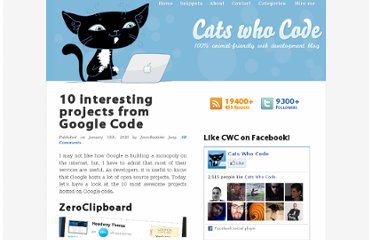http://www.catswhocode.com/blog/10-interesting-projects-from-google-code