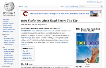 http://en.wikipedia.org/wiki/1001_Books_You_Must_Read_Before_You_Die