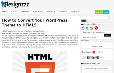 http://www.designzzz.com/how-to-convert-wordpress-theme-html5/