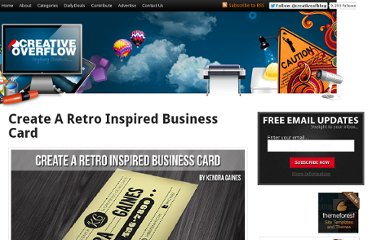 http://creativeoverflow.net/create-a-retro-inspired-business-card/