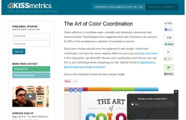 http://blog.kissmetrics.com/art-of-color-coordination/