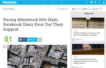 http://mashable.com/2010/01/20/strong-aftershock-hits-haiti-facebook-users-pour-out-their-support/