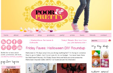 http://www.poorandpretty.com/2011/10/friday-faves-halloween-diy-roundup/