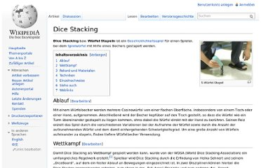 http://de.wikipedia.org/wiki/Dice_Stacking