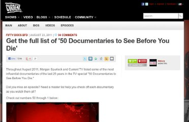 http://current.com/shows/fifty-documentaries/big-featured-discussion/93410116_get-the-full-list-of-50-documentaries-to-see-before-you-die.htm