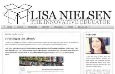 http://theinnovativeeducator.blogspot.com/2011/10/tweeting-in-library.html