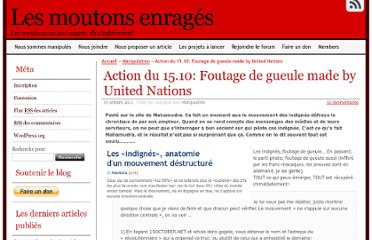 http://lesmoutonsenrages.fr/2011/10/15/action-du-15-10-foutage-de-gueule-made-by-united-nations/