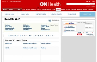 http://www.cnn.com/HEALTH/health.a.z/index.html