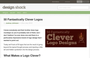 http://designshack.net/articles/graphics/50-fantastically-clever-logos/