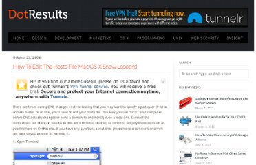 http://www.dotresults.com/2009/10/27/how-to-edit-the-hosts-file-mac-os-x-snow-leopard/