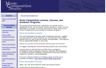 http://www.music-composition-studio.com/music-composition-lessons-courses-and-academic-programs.html