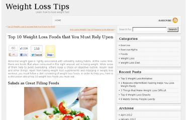 http://www.myweightlossezine.com/blog/top-10-weight-loss-foods/