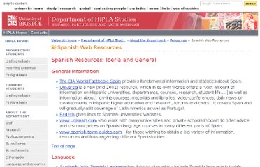 http://www.bris.ac.uk/hispanic/department/resources/spanwebresources.html