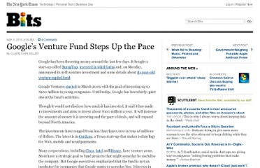 http://bits.blogs.nytimes.com/2010/05/03/googles-venture-fund-steps-up-the-pace/