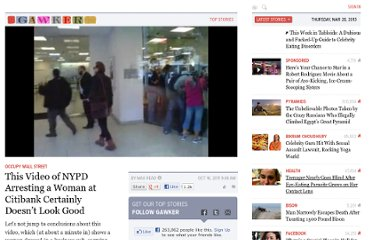 http://gawker.com/5850190/this-video-of-nypd-arresting-a-woman-at-citibank-certainly-doesnt-look-good