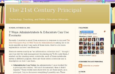 http://the21stcenturyprincipal.blogspot.com/2011/10/7-ways-administrators-educators-can-use.html
