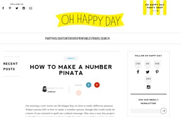 http://ohhappyday.com/2011/08/how-to-make-a-number-pinata/