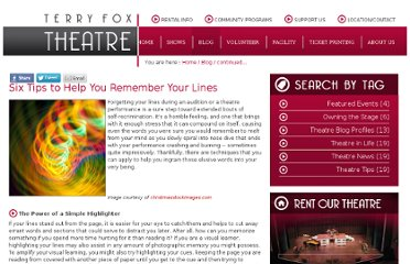 http://terryfoxtheatre.publishpath.com/six-tips-to-help-you-remember-your-lines