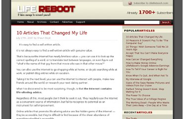 http://www.lifereboot.com/2007/10-articles-that-changed-my-life/