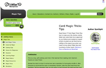 http://magic.lifetips.com/cat/66938/card-magic-tricks/index.html