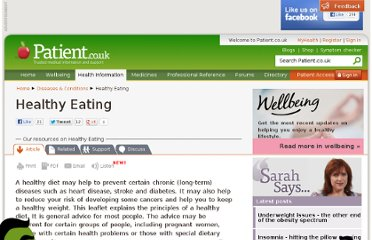 http://www.patient.co.uk/health/Healthy-Eating.htm