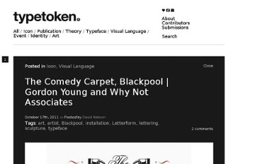 http://www.typetoken.net/icon/the-comedy-carpet-blackpool-gordon-young-and-why-not-associates/