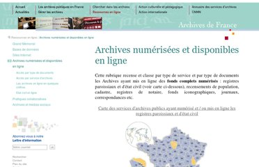 http://www.archivesdefrance.culture.gouv.fr/ressources/en-ligne/