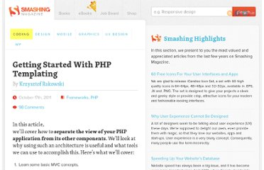 http://coding.smashingmagazine.com/2011/10/17/getting-started-with-php-templating/