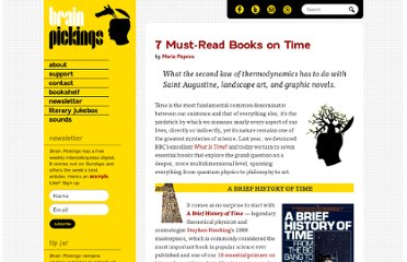 http://www.brainpickings.org/index.php/2011/10/17/7-must-read-books-on-time/