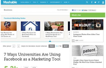 http://mashable.com/2011/10/17/facebook-marketing-colleges-universities/