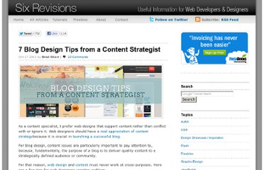 http://sixrevisions.com/content-strategy/blog-design-tips-content-strategist/