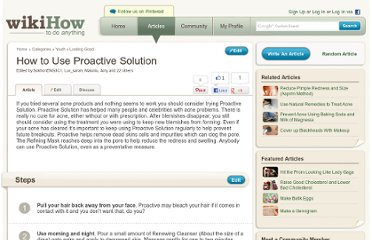 http://www.wikihow.com/Use-Proactive-Solution