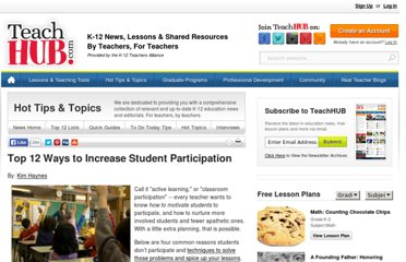 http://www.teachhub.com/top-12-ways-increase-student-participation