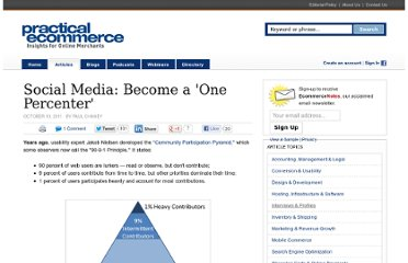 http://www.practicalecommerce.com/articles/3092-Social-Media-Become-a-One-Percenter-