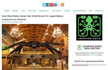 http://laughingsquid.com/giant-black-balloon-spider-sets-world-record-for-largest-balloon-sculpture-by-an-individual/
