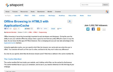 http://www.sitepoint.com/offline-browsing-in-html5-with-applicationcache/